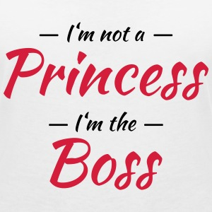 I'm not a princess, I'm the boss T-Shirts - Frauen T-Shirt mit V-Ausschnitt