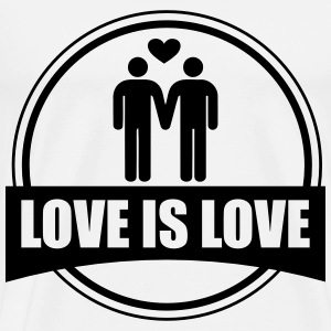 LOVE IS LOVE GAY T-skjorter - Premium T-skjorte for menn