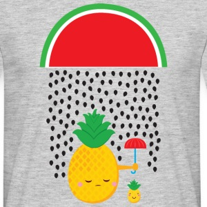Pineapple Melon Rain T-shirts - Mannen T-shirt