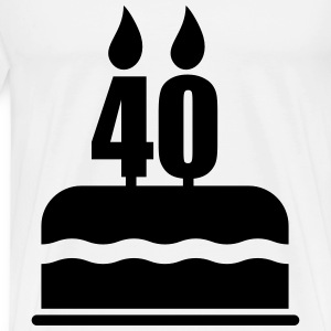 40th Birthday Gifts T-Shirts - Men's Premium T-Shirt