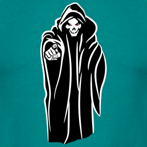 Death hooded kwaad T-shirts - Mannen T-shirt