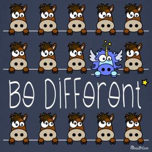 Licorne Bleu & Poneys, Be Different WT