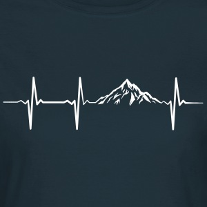 Heartbeat Mountains T-shirts - T-shirt dam