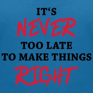 It's never too late T-Shirts - Women's V-Neck T-Shirt