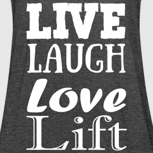 Live,laugh,love, lift Tops - Women's Tank Top by Bella