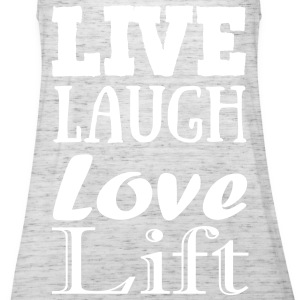Live,laugh,love, lift Tops - Vrouwen tank top van Bella