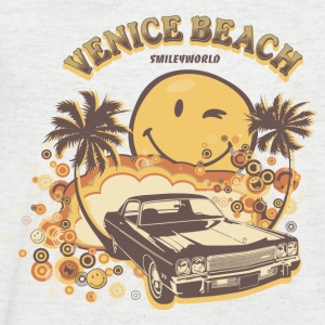 SmileyWorld 'Venice Beach' men t-shirt - Men's V-Neck T-Shirt