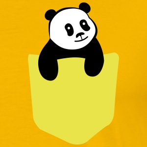 Cute Panda Pocket T-shirts - Mannen Premium T-shirt