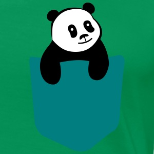 Cute Panda Pocket T-Shirts - Frauen Premium T-Shirt
