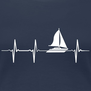 Heartbeat Sailing T-Shirts - Frauen Premium T-Shirt