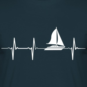 Heartbeat Sailing T-shirts - Mannen T-shirt