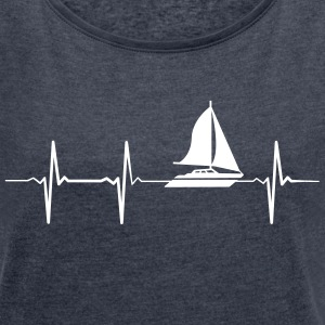 Heartbeat Sailing T-Shirts - Women's T-shirt with rolled up sleeves