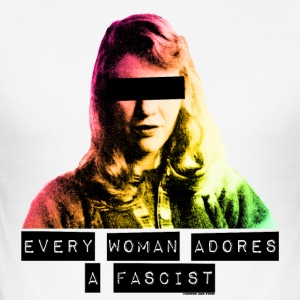 Sylvia Plath - Every Woman Adores a Fascist - Men's Slim Fit T-Shirt