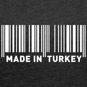 MADE IN TURKEY T-skjorter - Frauen T-Shirt mit gerollten Ärmeln