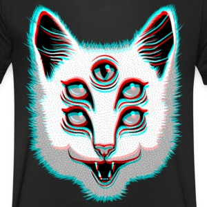 Glitch Cat T-Shirts - Men's V-Neck T-Shirt