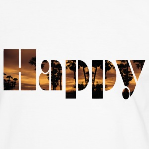 Happy Palms - Männer Kontrast-T-Shirt