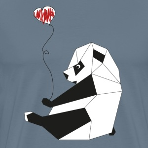 Paul, the Panda, loves grey - Men's Premium T-Shirt