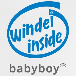 Windel inside Babyboy Shirt Jungen-Version, blau - Baby T-Shirt