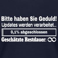 """Nerd T-Shirts mit """"Update Ladebalken"""""""