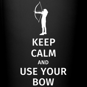keep calm and use your bow Tassen & Zubehör - Tasse einfarbig