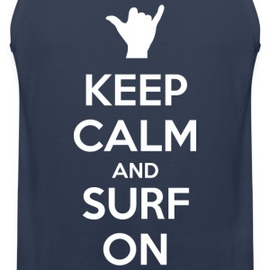 Keep Calm and Surf On - Débardeur Premium Homme