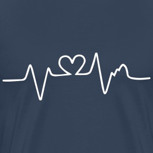 heart beat T-Shirts - Men's Premium T-Shirt
