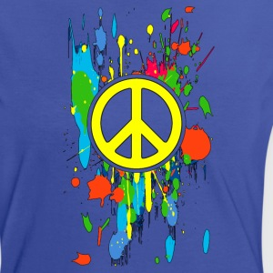 peace symbol 5 Tee shirts - T-shirt contraste Femme