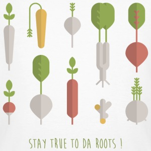 STAY TRUE TO DA ROOTS! T-Shirts - Männer Bio-T-Shirt