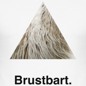Brustbart. - Männer Slim Fit T-Shirt