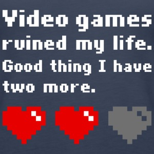 Video games ruined my life - Frauen Premium Tank Top
