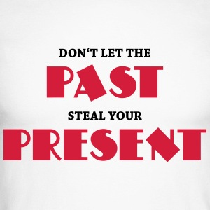 Don't let the past steal your present Langærmede t-shirts - Langærmet herre-baseballshirt