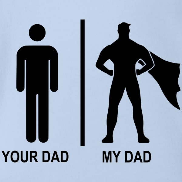 your dad my dad black Baby Bodys - Baby Bio-Kurzarm-Body
