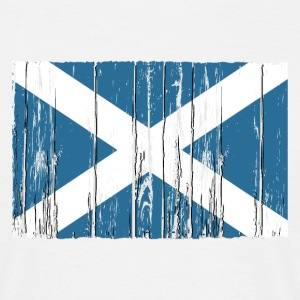 Scotland flag - wood vintage look T-Shirts - Männer T-Shirt