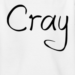Cray Tshirt White - Teenager T-Shirt