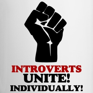 Introverts Unite v2 Mugs & Drinkware - Contrasting Mug