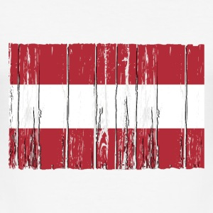 Austria flag - wood vintage look T-Shirts - Männer Slim Fit T-Shirt