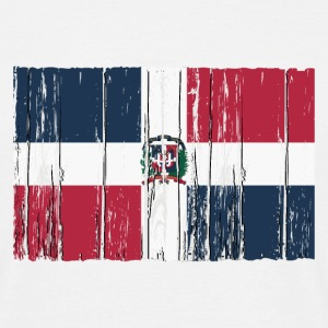 Dominican Republic flag - wood vintage look T-Shirts - Männer T-Shirt