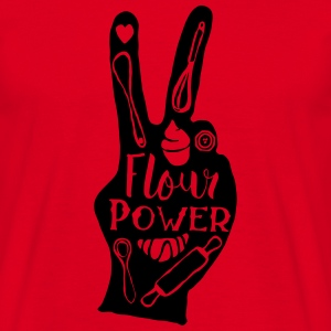 Rouge Flour Power Tee shirts - T-shirt Homme