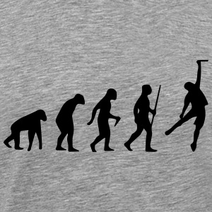 CLIMBING EVOLUTION THEORY SHIRT T-Shirts - Men's Premium T-Shirt