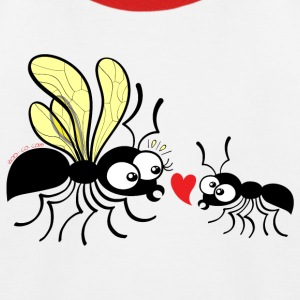 Declaration of love for a queen ant Shirts - Kids' Baseball T-Shirt