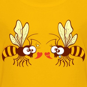Bees expressing opposite points of view about love Shirts - Kids' Premium T-Shirt