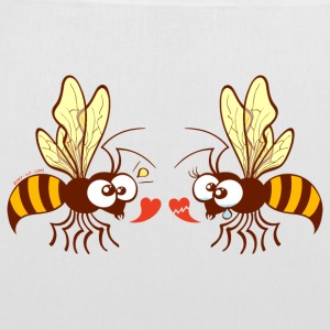 Bees expressing opposite points of view about love Bags & Backpacks - Tote Bag