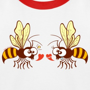 Bees expressing opposite points of view about love Shirts - Kids' Baseball T-Shirt