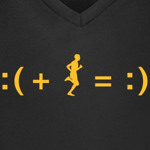 A Formula for Happiness T-shirts - Mannen T-shirt met V-hals