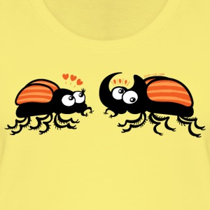 Rhinoceros beetles falling in love Tops - Women's Organic Tank Top