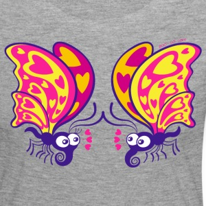 Beautiful butterflies madly falling in love Long Sleeve Shirts - Women's Premium Longsleeve Shirt