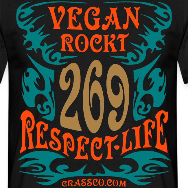 VEGAN RESPECT LIFE (mit Gold-Effekt)