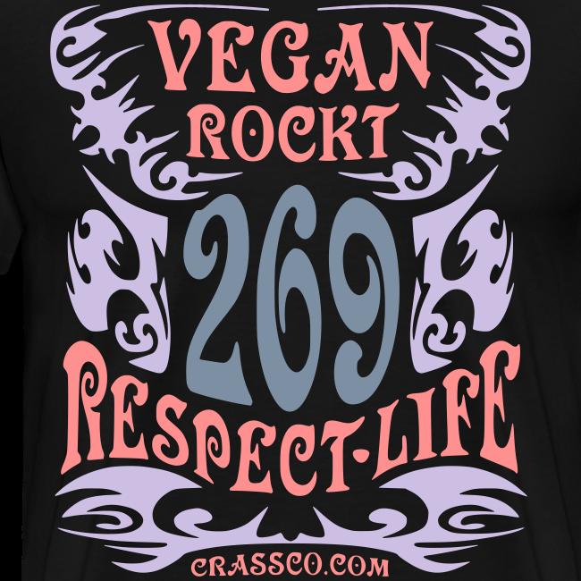 VEGAN RESPECT LIFE (mit Silber-Effekt)