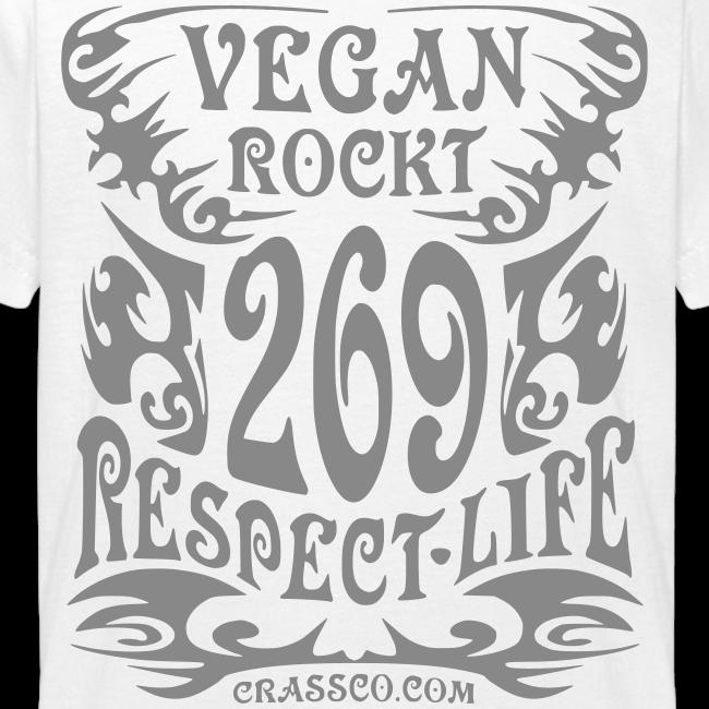 VEGAN RESPECT LIFE (Silber-Glitzer)