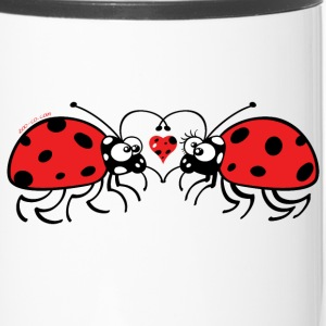 Adorable ladybugs sweetly falling in love Mugs & Drinkware - Travel Mug